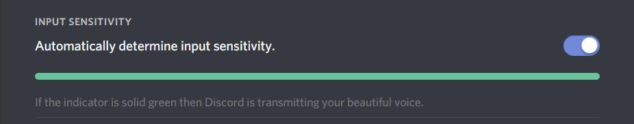 Discord Mic Not Working : Change Input Sensitivity