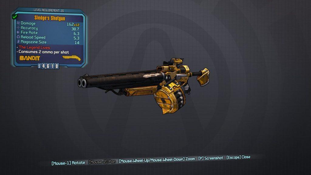 Borderlands 2 Shotguns