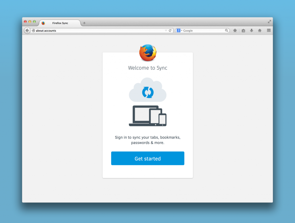Firefox browser sync