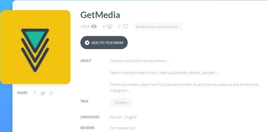 Get Media Bot