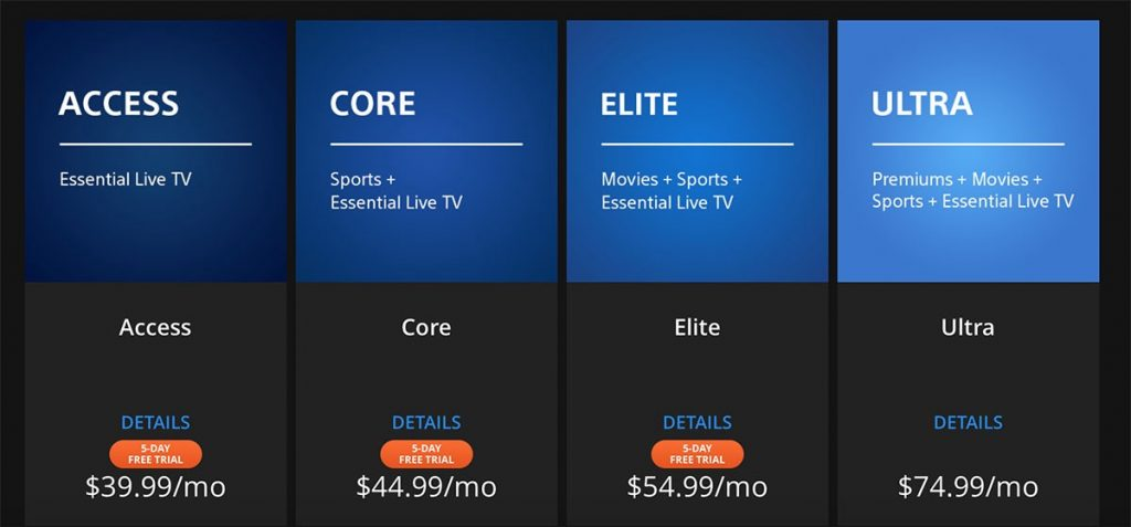YouTube TV subscription cost
